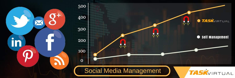 Social Media Management by Task Virtual
